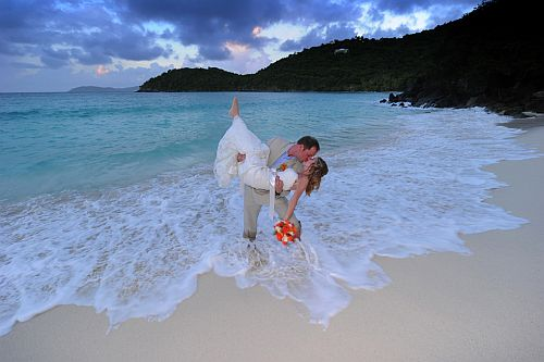 Romantic National  Park beach wedding