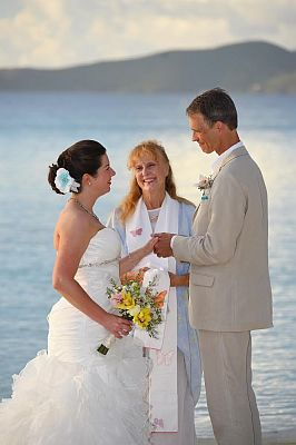 Romantic St John Beach Wedding