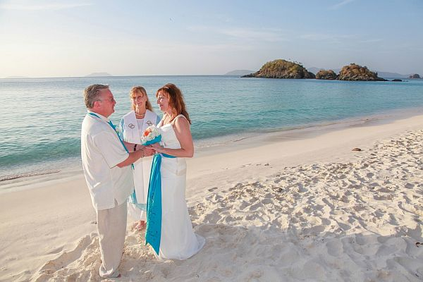 Perfect Caribbean wedding ceremony