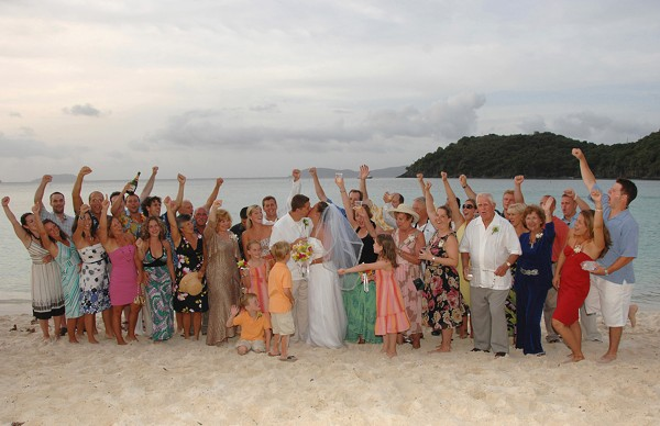 Trunk Bay Beach wedding