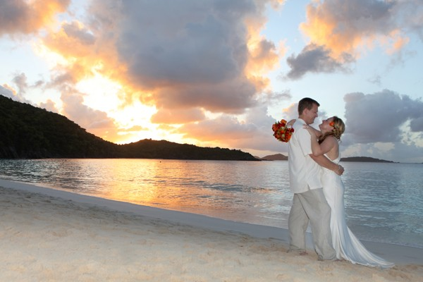 Romantic wedding on St John USVI