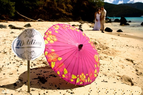 wedding on a St John beach